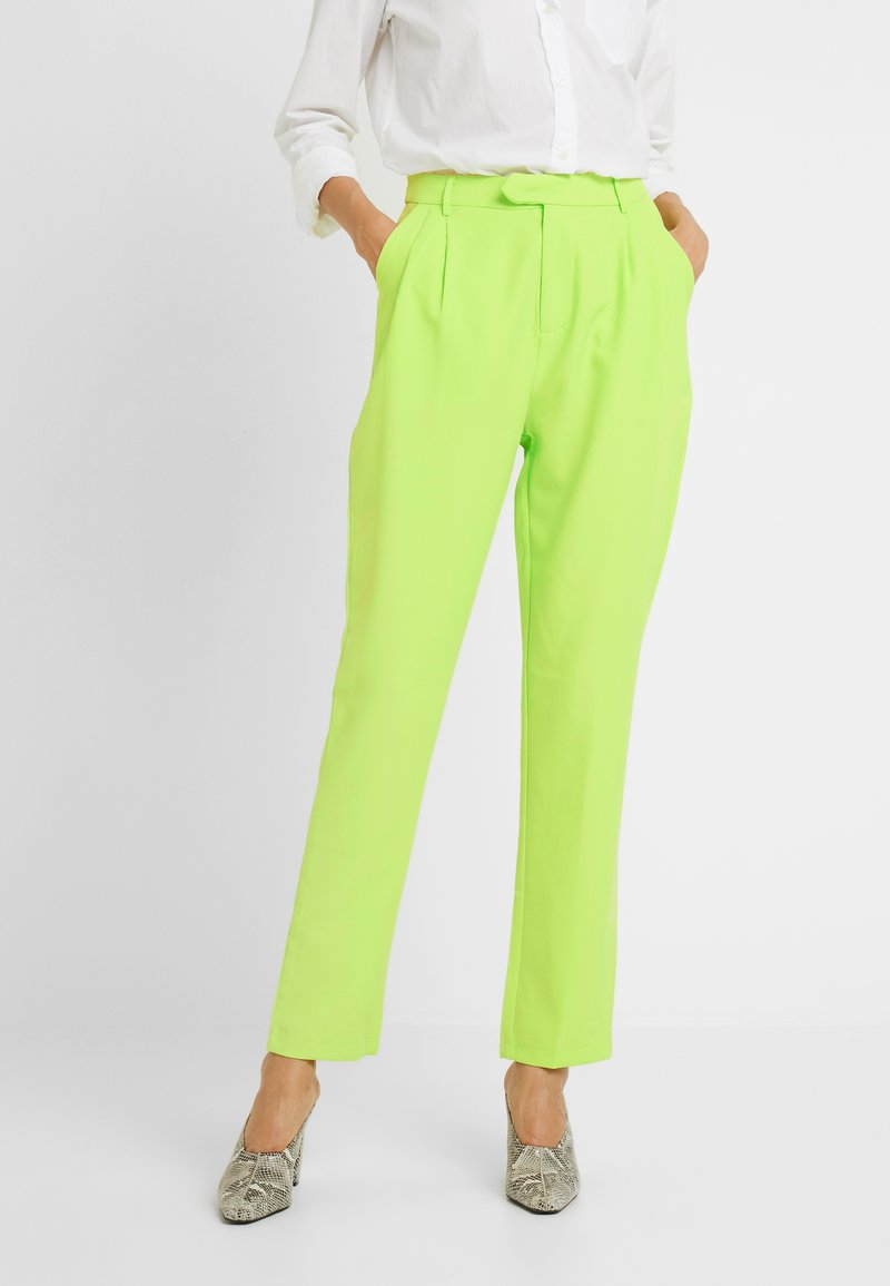 Missguided Tall - HIGH WAISTED LEG TROUSERS - Bukse - neon green