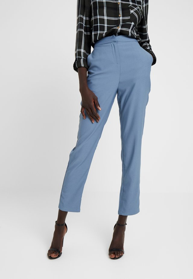 HIGH WAISTED LEG TROUSERS - Stoffhose - blue