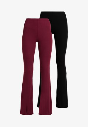 FLARE TROUSER 2 PACK - Pantaloni - black/burgundy