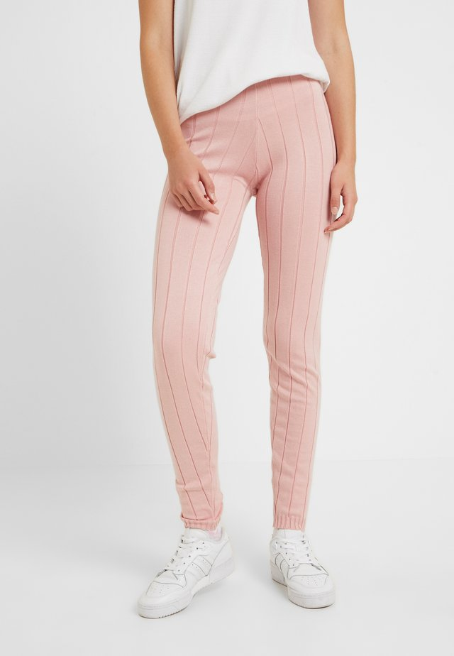 STRAIGHT LEG TROUSERS - Stoffhose - pink