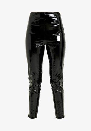 ZIP DETAIL TROUSERS - Pantaloni - black