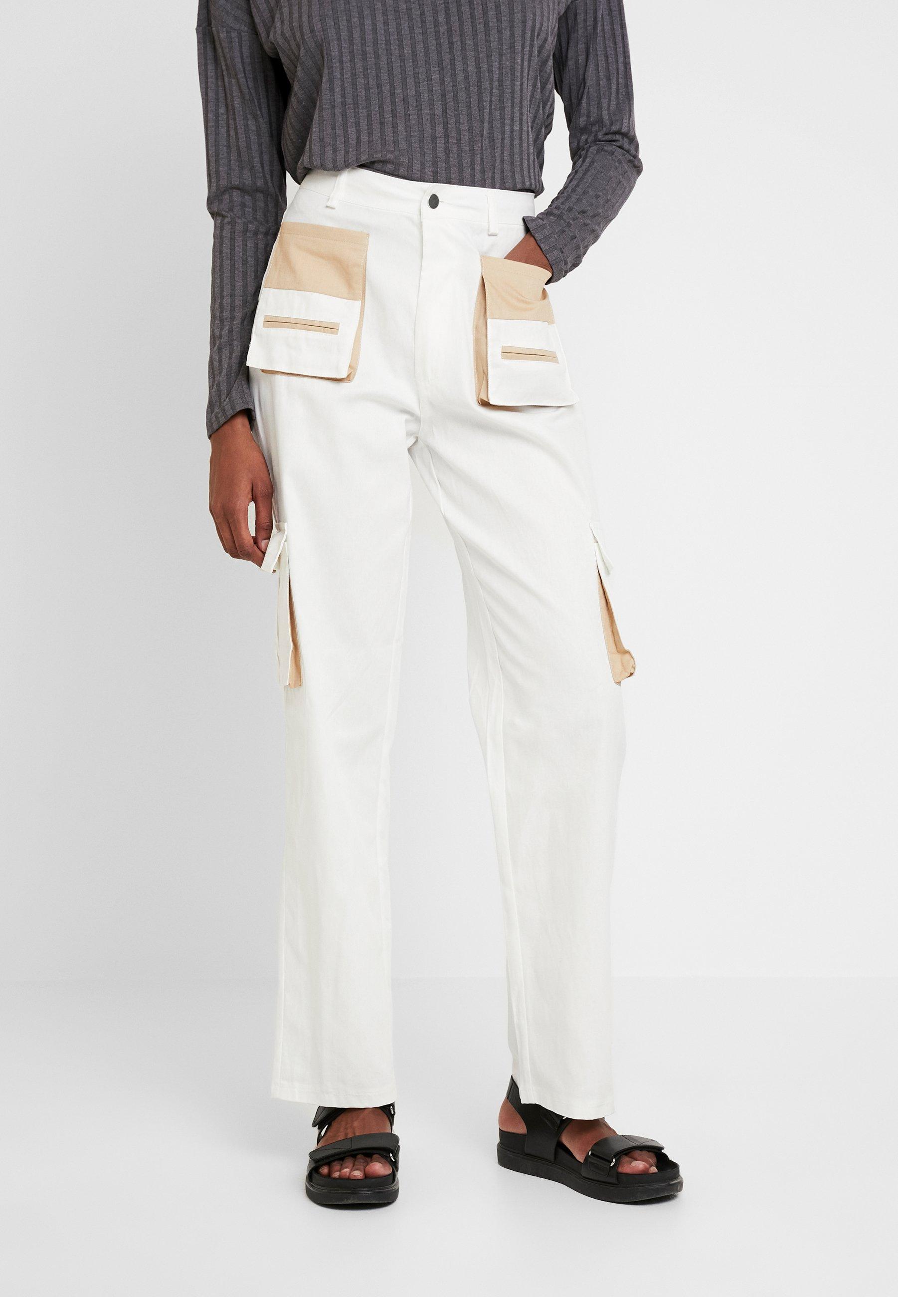 Tall Cream Contrast Cargo Missguided TrousersPantalon Classique Pocket CeBWEorQdx