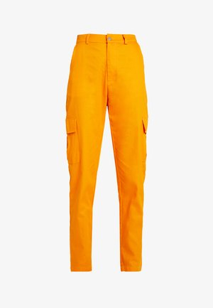HIGH WAISTED TROUSERS WITH SIDE POCKETS - Bukser - caramel