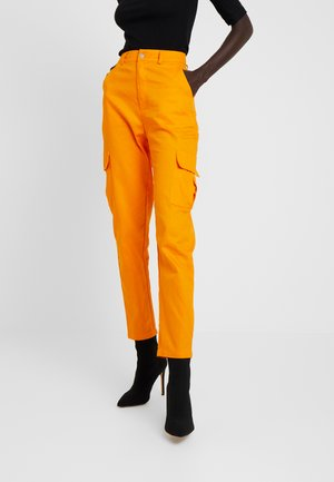 HIGH WAISTED TROUSERS WITH SIDE POCKETS - Trousers - caramel