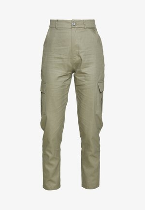 HIGH WAISTED TROUSERS WITH SIDE POCKETS - Bukser - khaki