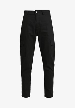 HIGH WAISTED TROUSERS WITH SIDE POCKETS - Kalhoty - black