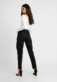 Missguided Tall - HIGH WAISTED TROUSERS WITH SIDE POCKETS - Kalhoty - black - 3