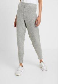 Missguided Tall - PREMIUM RIBBED JOGGER - Pantaloni sportivi - grey - 0