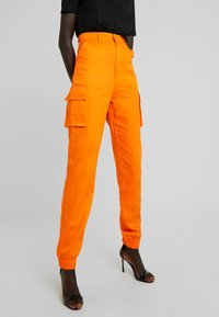 Missguided Tall - PLAIN TROUSER - Trousers - orange - 0