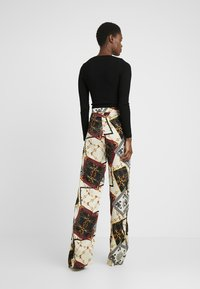Missguided Tall - WIDE LEG PRINTED TROUSER - Bukser - cream - 2