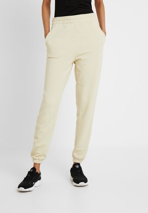BASIC 2 PACK - Spodnie treningowe - beige/black