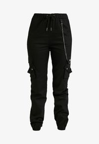 Missguided Tall - EMBROIDERED CHAIN - Bukse - black - 3
