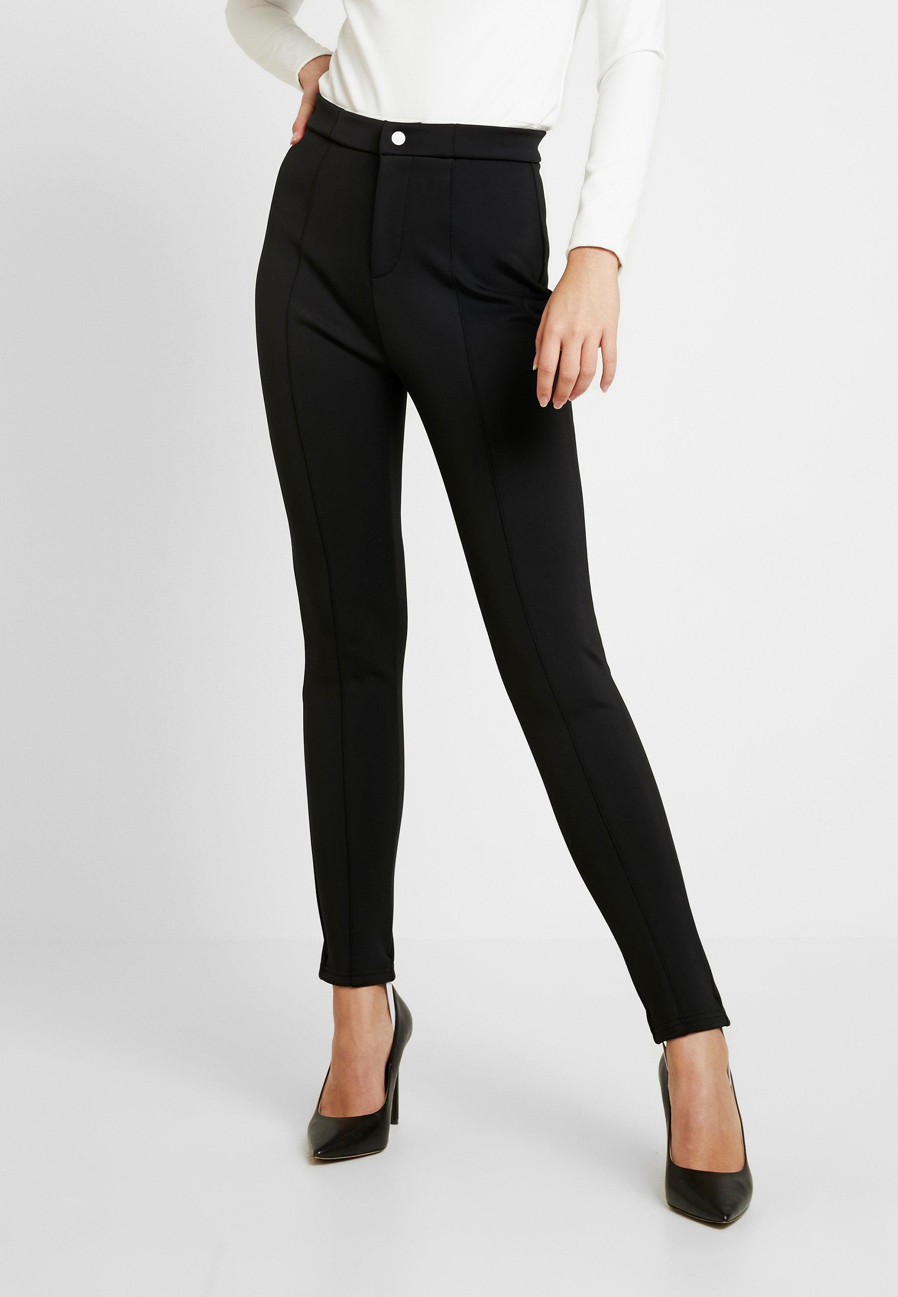 Missguided Tall SKIWEAR - Spodnie materiałowe - black