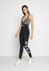 Missguided Tall - CROSS FRONT SPORTS BRA AND LEGGING SET ACTIVEWEAR - Leggings - Trousers - black - 1