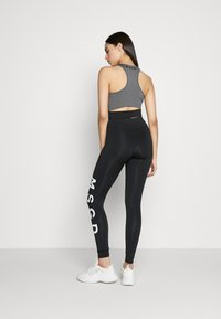 Missguided Tall - CROSS FRONT SPORTS BRA AND LEGGING SET ACTIVEWEAR - Leggings - Trousers - black - 2