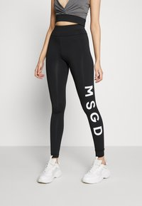 Missguided Tall - CROSS FRONT SPORTS BRA AND LEGGING SET ACTIVEWEAR - Leggings - Trousers - black - 4