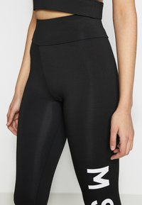 Missguided Tall - CROSS FRONT SPORTS BRA AND LEGGING SET ACTIVEWEAR - Leggings - Trousers - black - 7