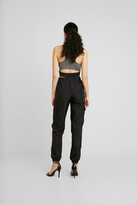 Missguided Tall - STRIPE JOGGER - Tracksuit bottoms - black - 3