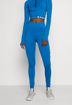 LONG SLEEVED ZIP FRONT AND LEGGINGS ACTIVEWEAR - Chándal - blue