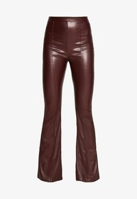 Missguided Tall - SEAM DETAIL FLARE TROUSER - Kalhoty - wine - 5