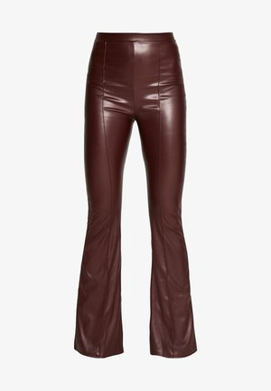 SEAM DETAIL FLARE TROUSER - Broek - wine