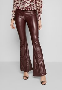 Missguided Tall - SEAM DETAIL FLARE TROUSER - Kalhoty - wine - 0