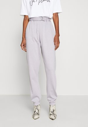 BELTED JOGGERS - Tracksuit bottoms - grey