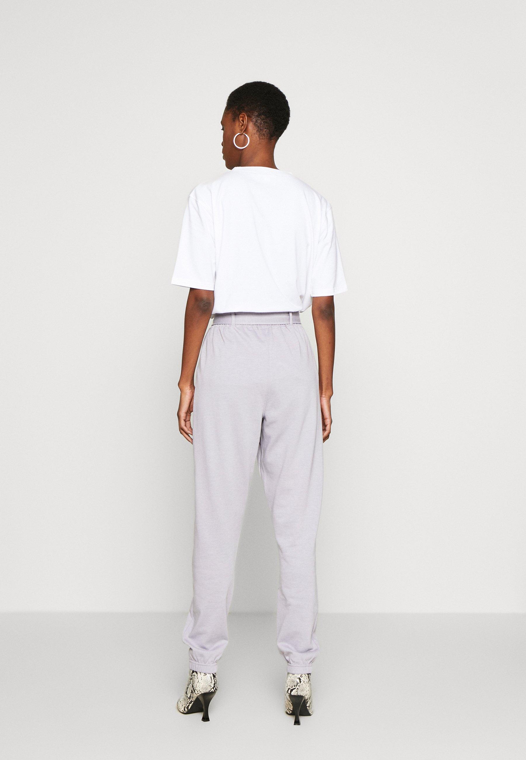 Missguided Tall BELTED JOGGERS - Spodnie treningowe - grey
