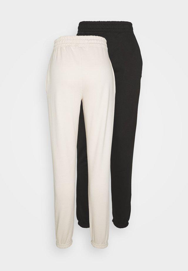 2 PACKBASIC JOGGER - Pantalon de survêtement - sand/black