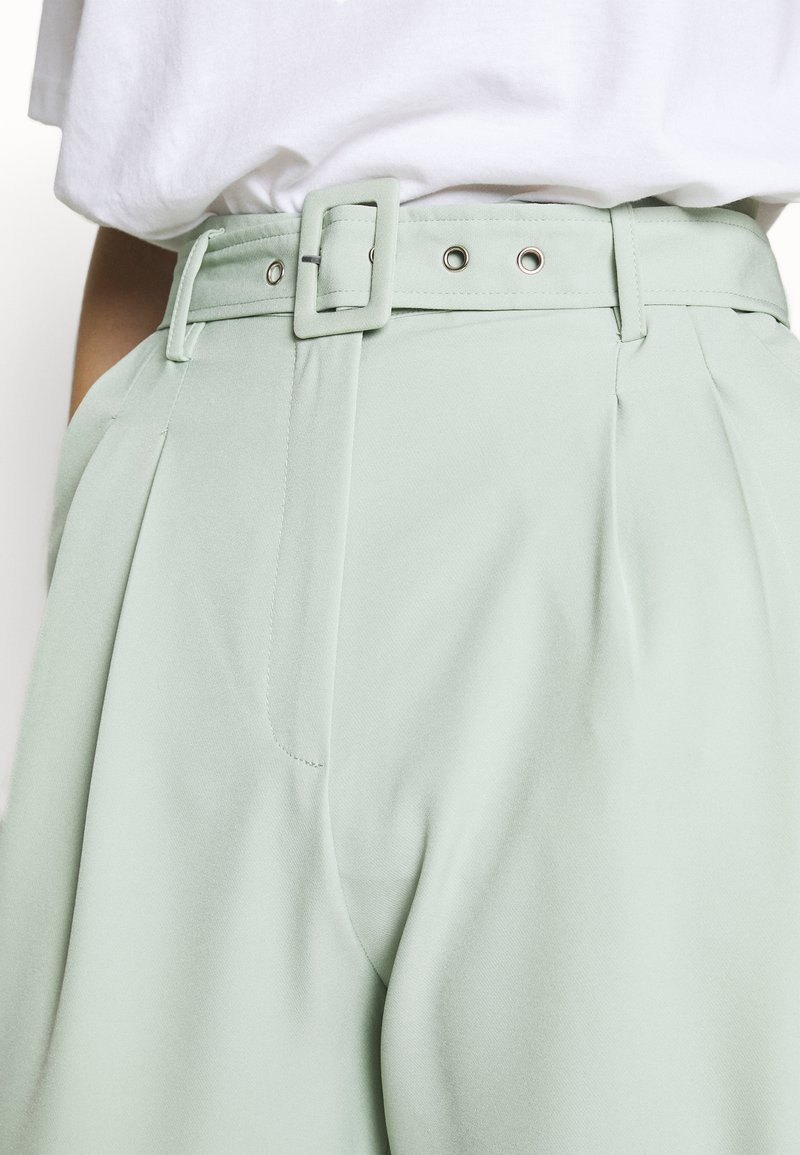 Missguided Tall BALLOON WIDE LEG TROUSERS - Bukse - mint