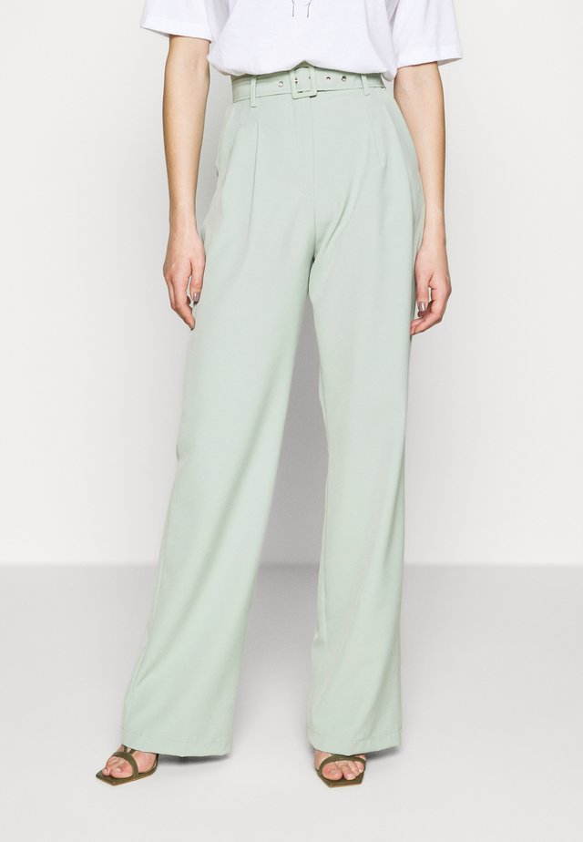 BALLOON WIDE LEG TROUSERS - Kangashousut - mint