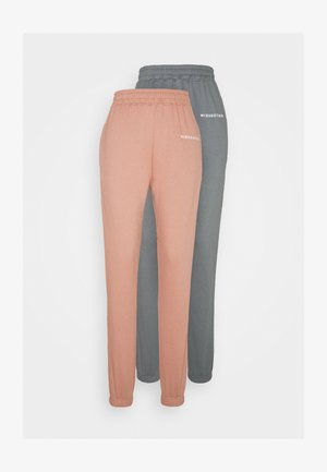 BASIC JOGGER 2 PACK - Verryttelyhousut - dark grey/rose