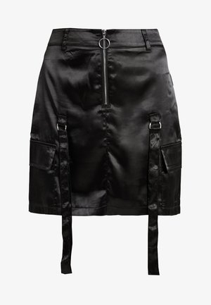 UTILITY SKIRT - Minirok - black