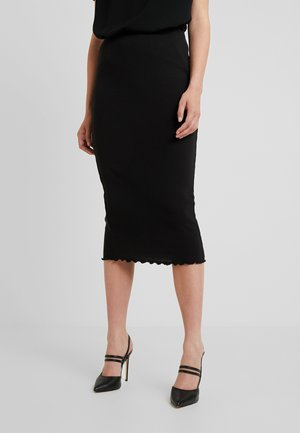 LETTUCE HEM SKIRT 2 PACK - Pencil skirt - black/nude