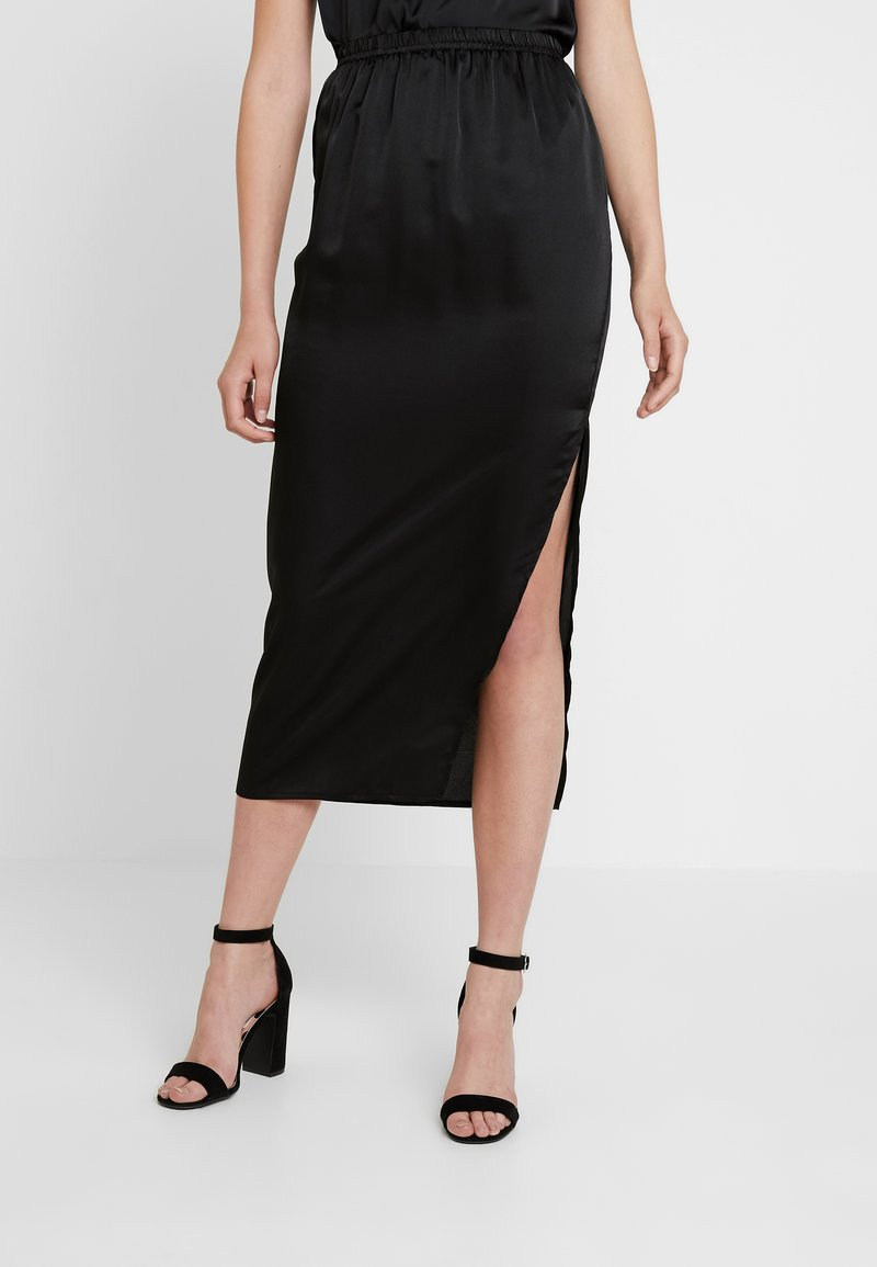 Missguided Tall - SPLIT SKIRT - Bleistiftrock - black