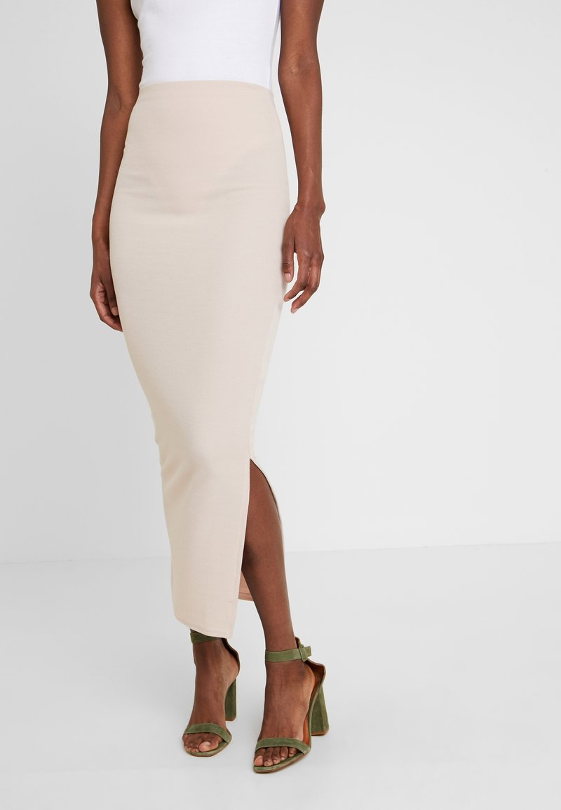 Missguided Tall - BRUSHED MIDAXI SKIRT - Maxirock - stone