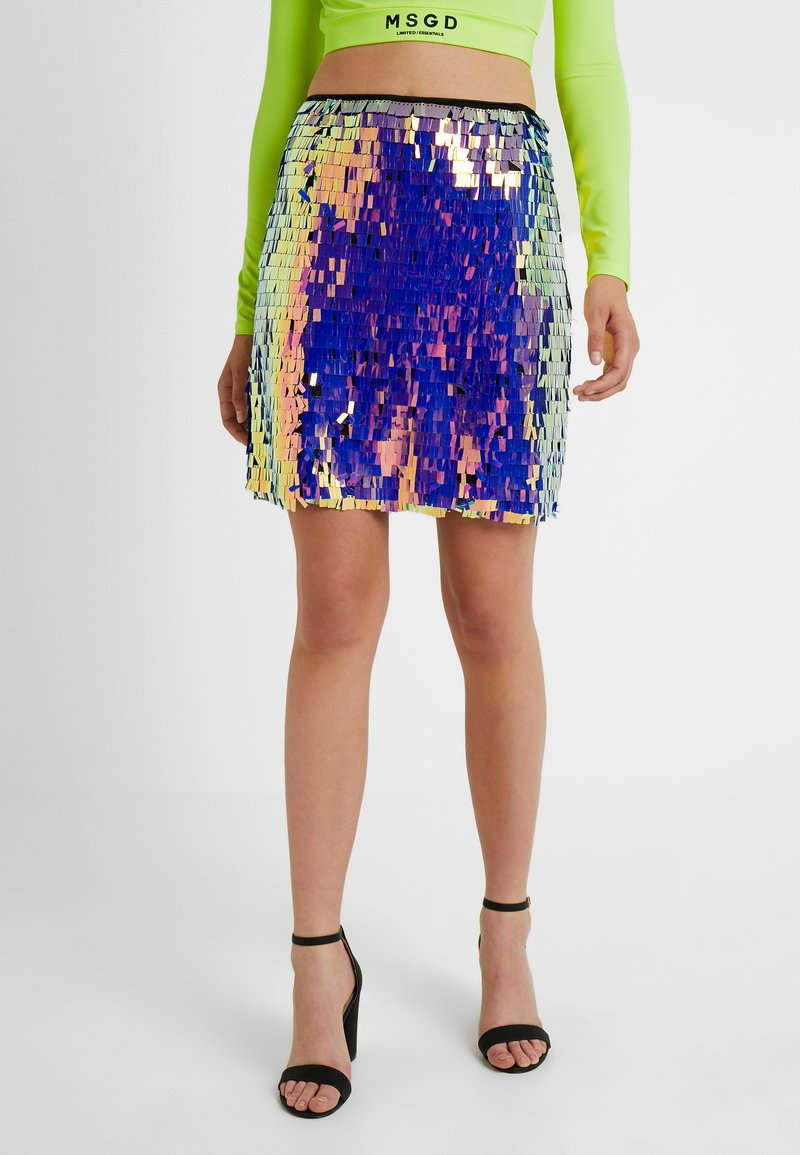 Missguided Tall - SEQUIN SKIRT - Jupe trapèze - purple