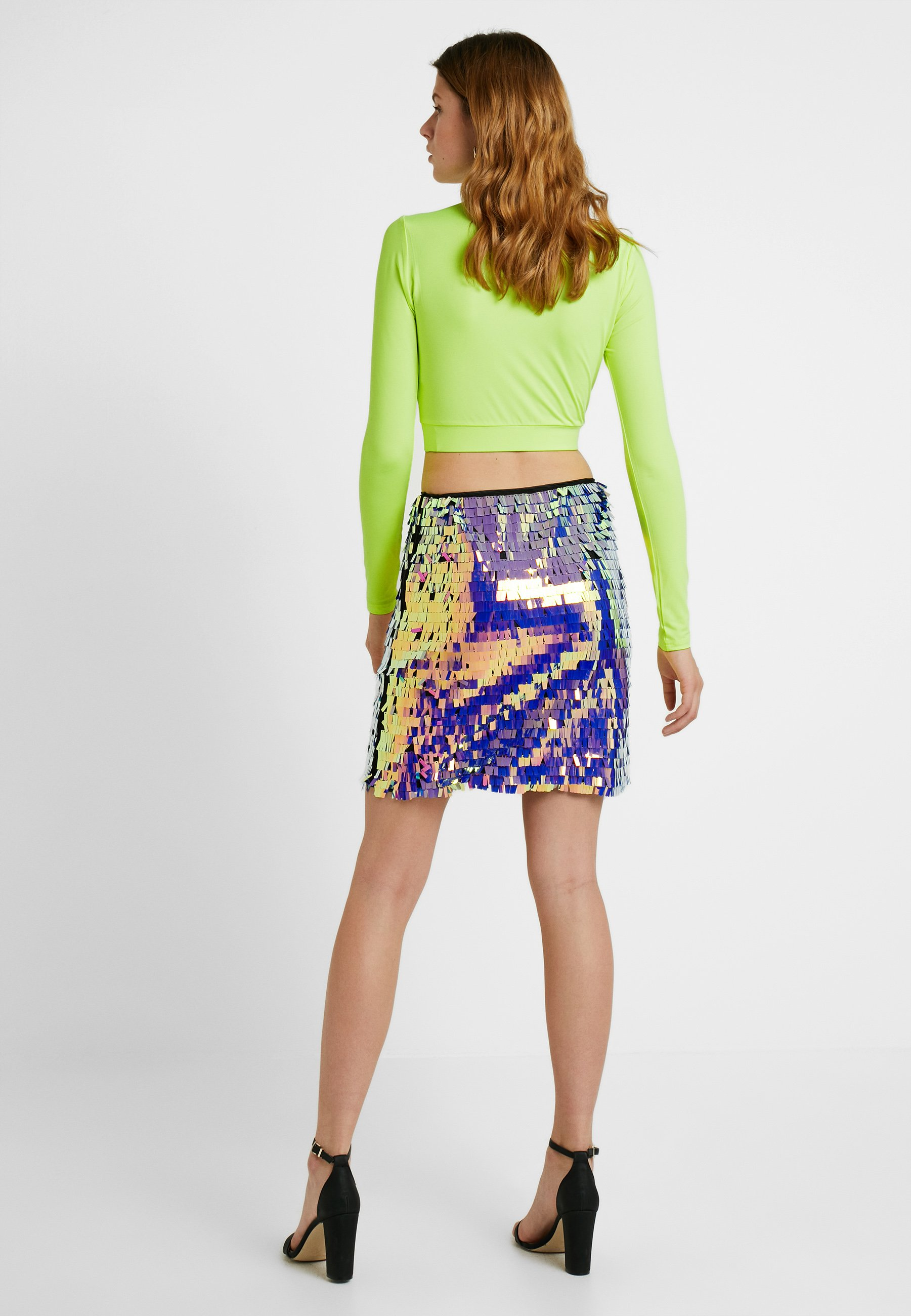 Missguided Purple SkirtJupe Tall Sequin Trapèze N0mwy8nOvP