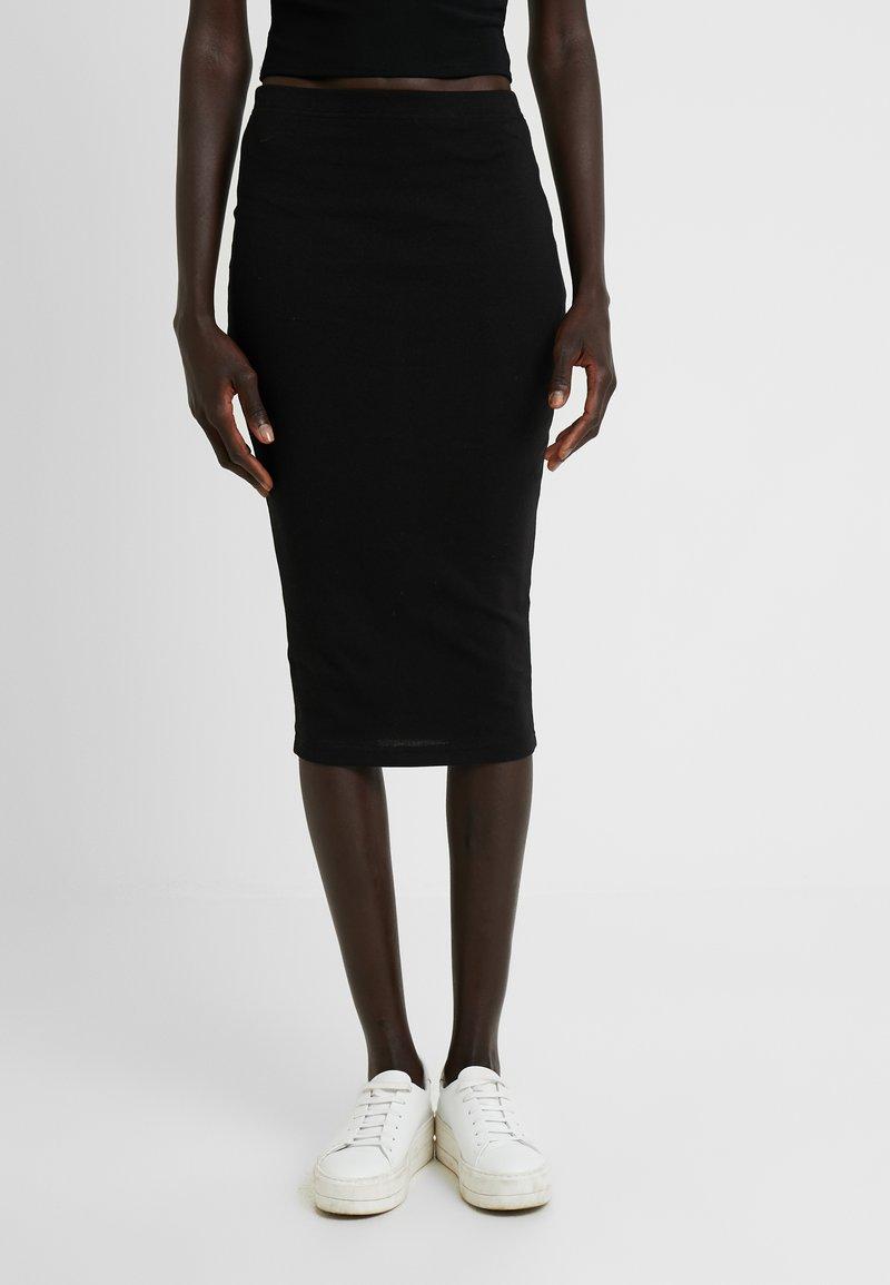Missguided Tall - LETTUCE HEM SKIRT 2 PACK  - Pencil skirt - black/grey