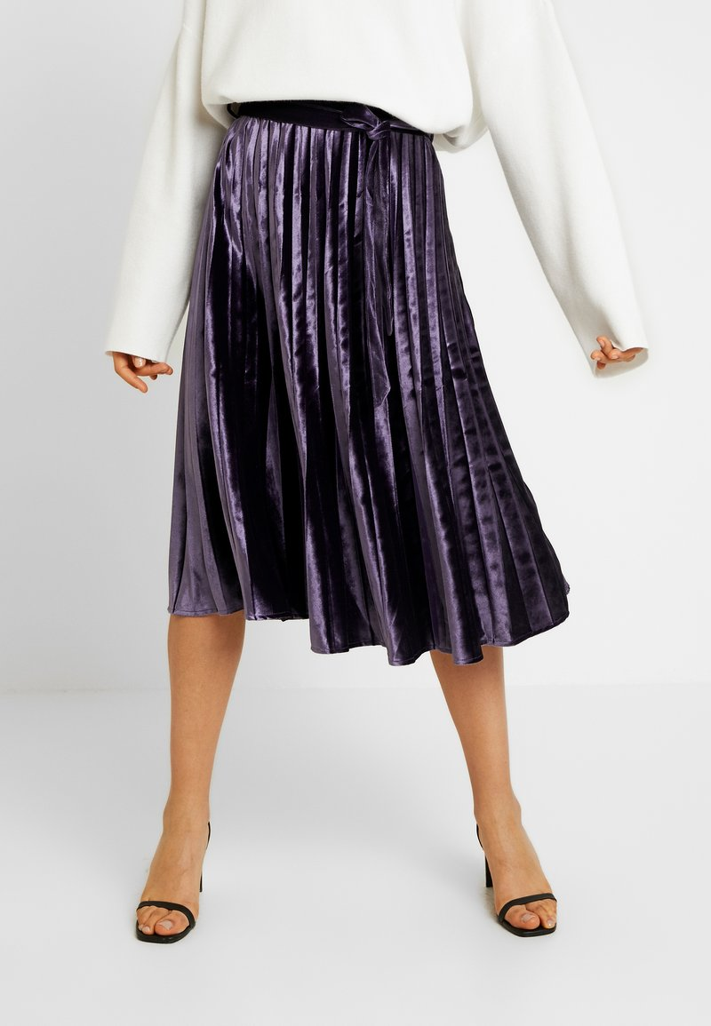 Missguided Tall - PLEATED TIE BELT MIDI SKIRT - A-lijn rok - purple