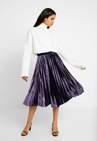 Missguided Tall - PLEATED TIE BELT MIDI SKIRT - A-lijn rok - purple - 1