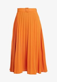 Missguided Tall - BELTED PLEATED MIDI SKIRT - A-snit nederdel/ A-formede nederdele - orange - 3