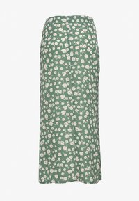 Missguided Tall - GREEN PRINTED MIDI SLIP SKIRT - A-line skirt - green
