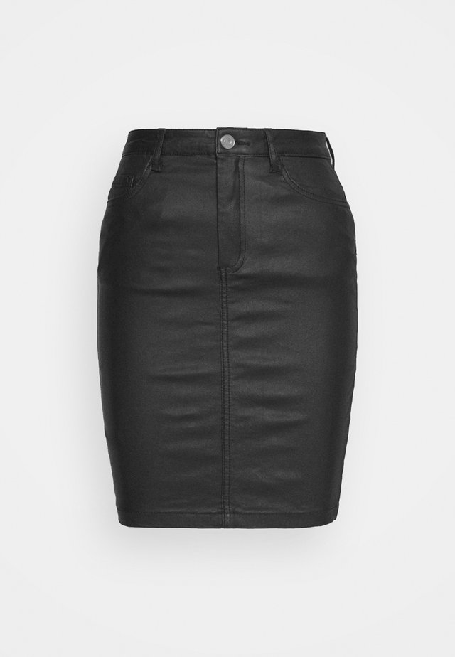 TALL COATED SUPERSTRETCH MINI SKIRT - Pennkjol - black