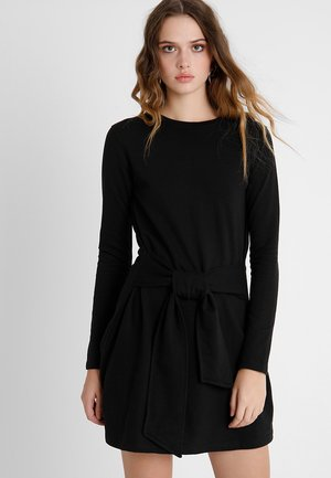 TIE WAIST DRESS - Vestito estivo - black