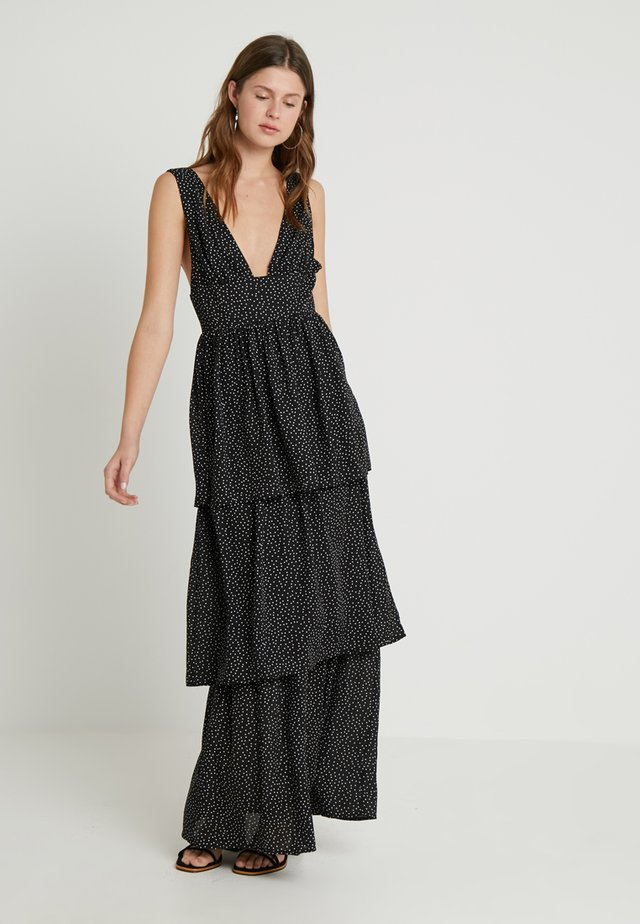 POLKA DOT PLUNGE LAYERED DRESS - Ballkleid - black/white