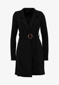 Missguided Tall - LONG SLEEVE TORTOISE SHELL BELT DRESS - Robe en jersey - black - 5