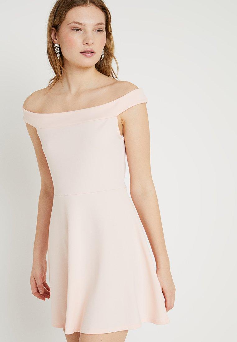 Missguided Tall - BARDOT SKATER DRESS - Jerseykleid - blush pink