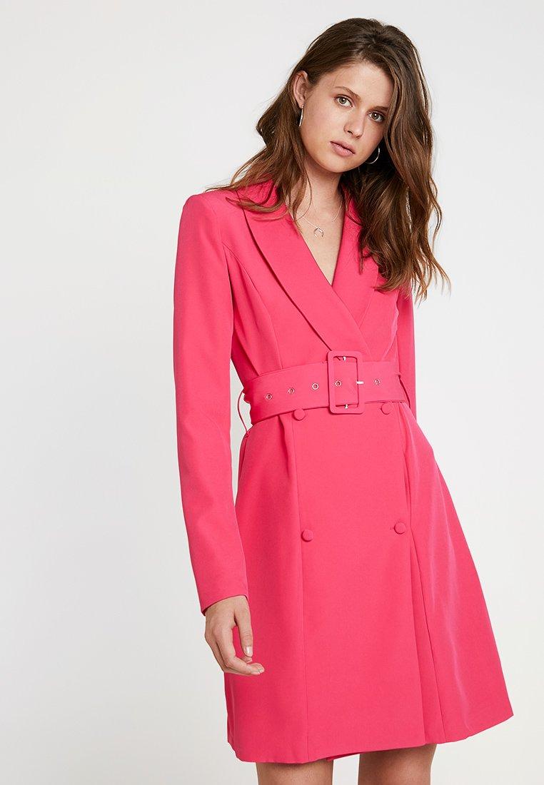 Missguided Tall - SHELL BELT DRESS - Košilové šaty - beetroot purple