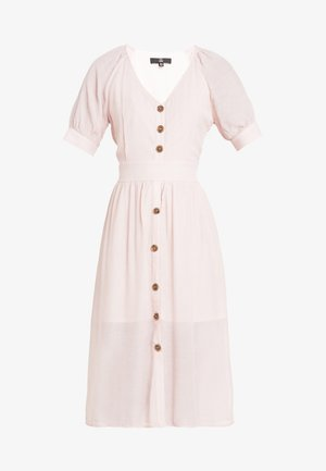BUTTON BELTED MIDI DRESS - Skjortekjole - pink